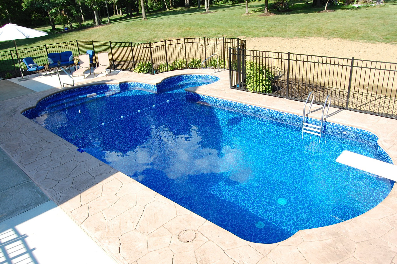 Delgallo country pools inground pools and swimming pools for Built in pools