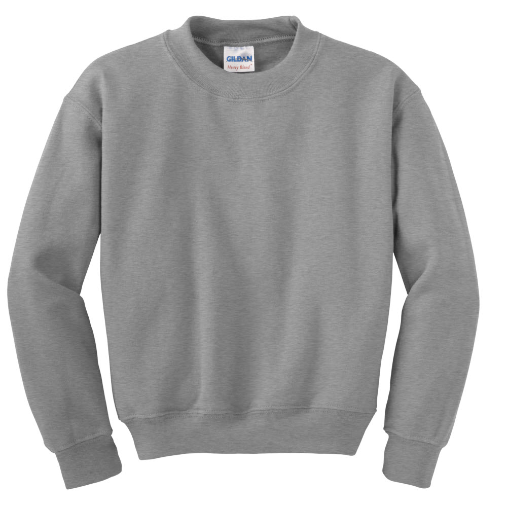 Football Gray Crew Neck Sweatshirt (Gildan) | junior-leopards