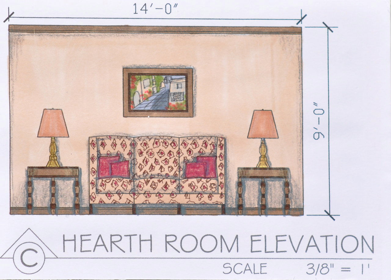 Free website built by emhedgpath using classic portfolio for Living room elevation