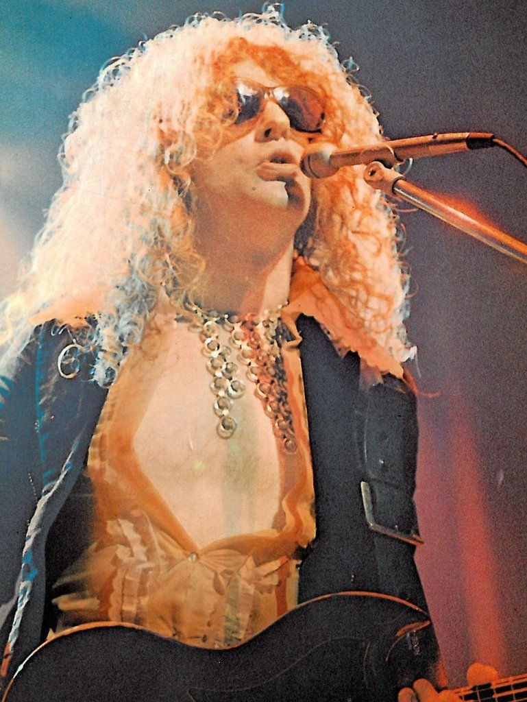 Ian Hunter, of Mott the Hoople, in Malcolm Hall jacket, circa 1973