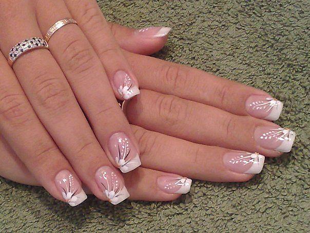Гель лак фото ногтей дизайн френч