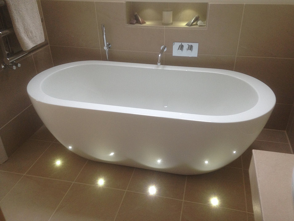 Awesome If You Make Them Dimmable, Youll Create A Lovely Ambience For A Relaxing Bath Consider Strip Lighting Beneath A  Separate Switches So You Can Personalise