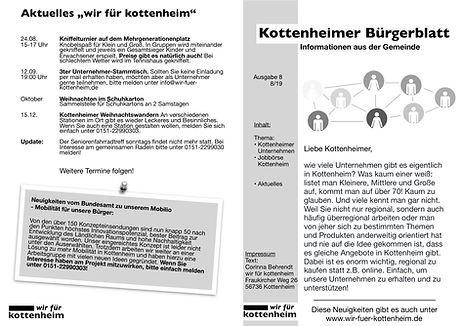 Bürgerblatt wir für Kottenheim