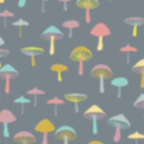 Behrendt Graphic Design pattern fabric design mushrooms