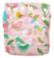 Behrendt Graphic Design diaper design birds and leaves for Charlie Banana