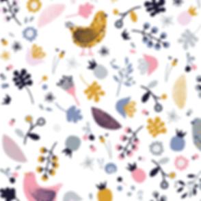 Behrendt Graphic Design pattern fabric design farm