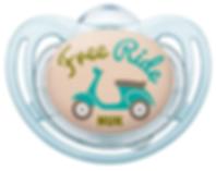 Linn Behrendt designer soother illustration Schnuller for NUK-Free ride-Vespa