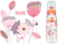 Behrendt Graphic Design FC bottle illustration flowers for NUK