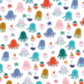 Behrendt Graphic Design pattern fabric design octopus