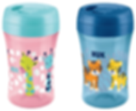 Behrendt Graphic Design bottle illustration giraffes and tigers for NUK