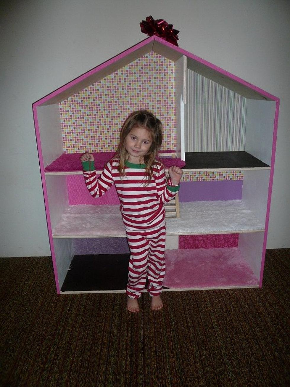 Кукольный домик своими руками чертеж фото