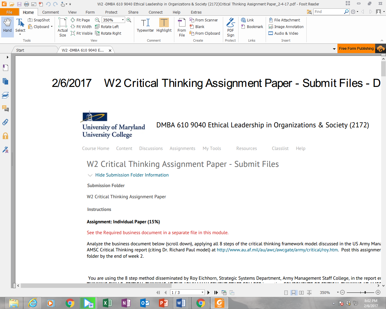dmba 610 w2 critical thinking View oluwatosin oluokun mha/mba doctoral candidate's profile on linkedin customer service and critical thinking (dmba 610) financial decision.