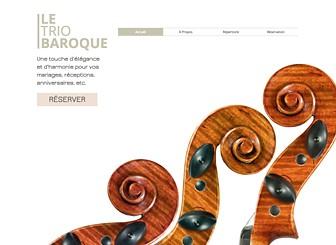 Trio Musique Classique Template - Un template élégant au charme classique. Personnalisez le texte pour présenter vos musiciens et décrire vos services et votre répertoire. Téléchargez des photos, des vidéos et des chansons pour donner un aperçu de vos concerts à vos visiteurs.
