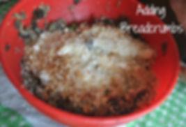 Adding Bread crumbs - Marietta's Calabrese Braciole di Melanzane Recipe