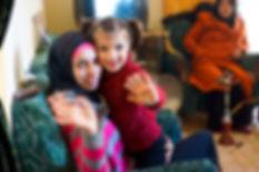 Ruru with her cousin smiling, Ketermaya, Lebanon