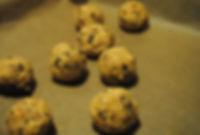 Rolling Dough into Balls; Gaja's Crunchy Chocolate Chip Cookies Recipe, Croatia