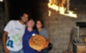 Leila, Anthony, and Maritza with the Peka Bread, Imotski, Croatia