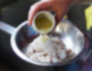 Rubbing lemon and salt into the intestine, Fwereh Lebanese Sausage Recipe