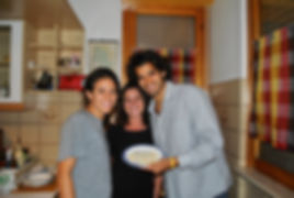 Leila, Anthony and Renata with the  Penne alla Norcina Recipe