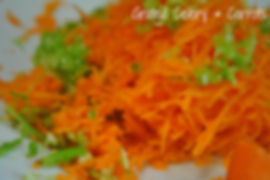 Grated Carrots and Celery - Sausage and Lentils Recipe