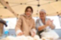 reema and her daughter rolling manaeesh balls, manaeesh recipe, beirut, lebanon