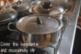 Cubed Eggplant Boiling - Marietta's Calabrese Braciole di Melanzane Recipe Photos