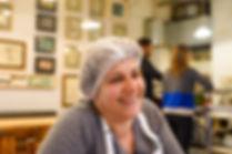 Nada Saber smiling at Tawlet in Beirut, Lebanon