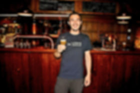 Luca at the Schouskjelleren Mikrobryggeri Pub in Oslo, Norway