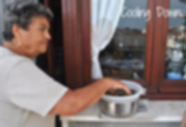 Allowing the strained eggplant to cool outside - Marietta's Calabrese Braciole di Melanzane Recipe Photos