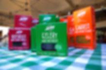Boxes of Biolicious Chips: Celery, Beetroot, Carrot, Souk El Tayeb, Beirut, Lebanon
