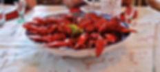 Kräftskiva or Swedish Crayfish Party in Kungsgården, Sweden