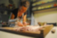 Irina Making her Istrian Ravioli Ricotta Recipe in Pazin, Croatia