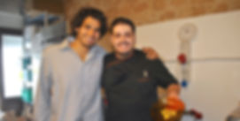 Giuseppe and Anthony Holding the Zabaione Heart
