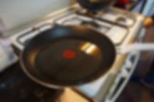 oil in pan, eggplant yogurt lebanese recipe, the recipe hunters in lebanon
