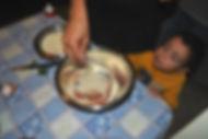 Adding the breadcrumbds and cheese - Simona's Polpette - Italian Meatballs Recipe