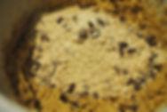 Adding Dry and Wet Ingredients; Gaja's Crunchy Chocolate Chip Cookies Recipe, Pazin, Croatia