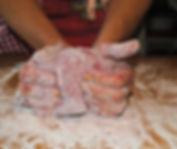 Kneading Dough; Irina's Istrian Ravioli Ricotta Recipe in Pazin, Croatia