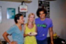The Recipe Hunters, Leila Elamine and Anthony Morano with Ella & her Healthy Cake at Konoba Bokuncin, Sutivan, Brač, Croatia