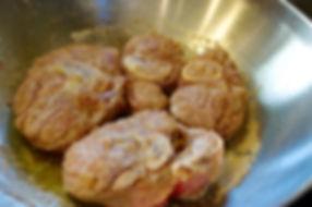 Letting the Dry White Cooking Wine Reduce - Italian Ossobuco Recipe