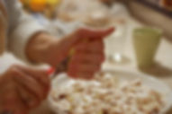 Squeezing lemon over the sliced white mushroom caps, White Mushroom Arugula Salad Recipe