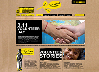 Charity Org Template - This Artistic looking Website template is easy to customize and lets you present  yourself  in real time. Just edit to make it your own in no time at all