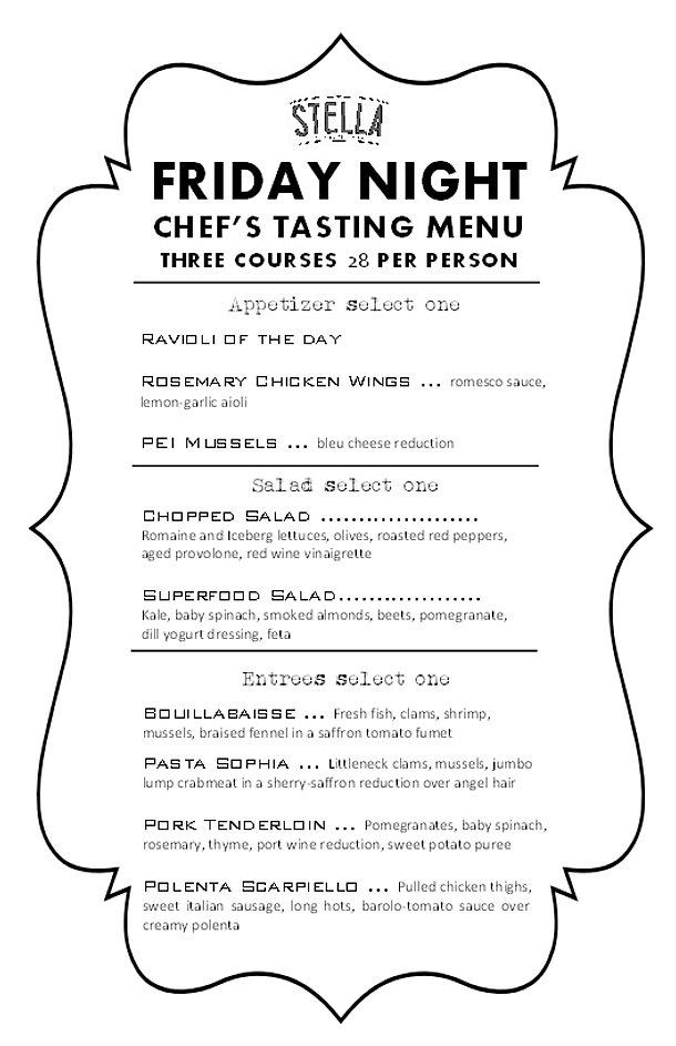 Stella restaurant ventnor nj chef 39 s tasting menu for Stellas fish cafe menu