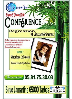 conférence sur Régressions - Vies antérieures à tarbes