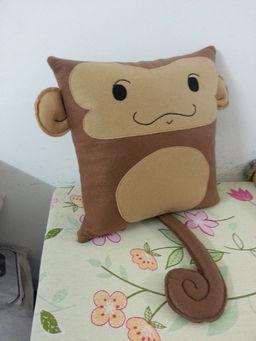 Handmade Cute Monkey Baby Infant Ape Pillow Rbitencourt USA Custom Handmade Plush Pillows ...
