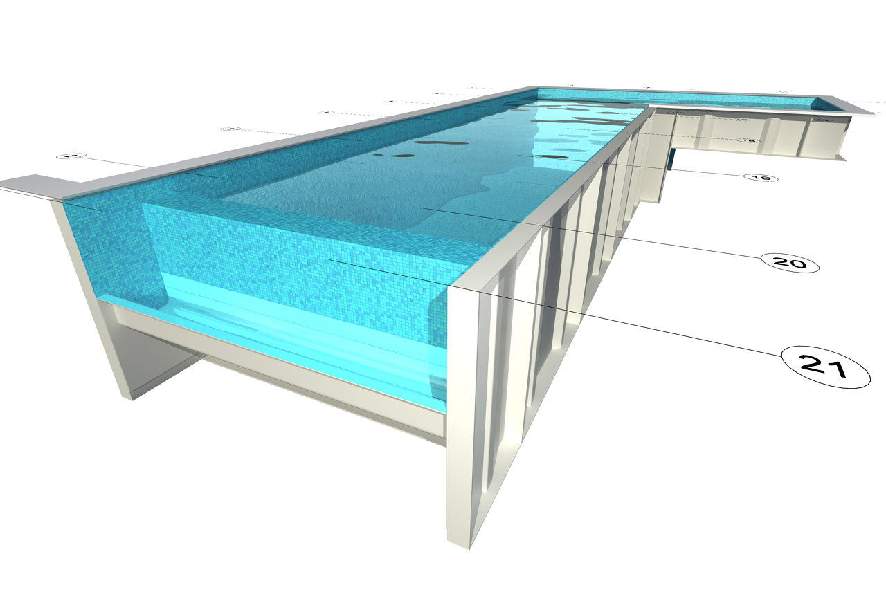 Modular swimming pools modular pools kit pools for Modular pool house