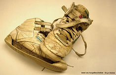 Worn Basketball Sneakers