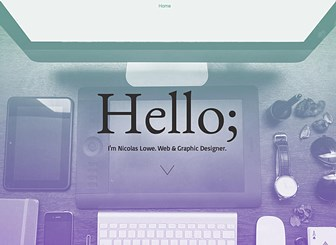 Portafolio de diseño web Template - This bright and simple template has all of the resources a graphic designer needs to get up and online. Elegantly designed and straight to the point, this template has space for all of the important details – upload your photos, add text, and get yourself out there!