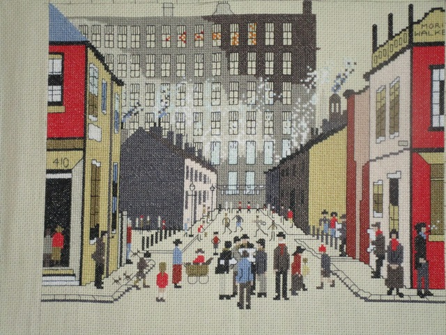 Lowry street scene cross stitch kits