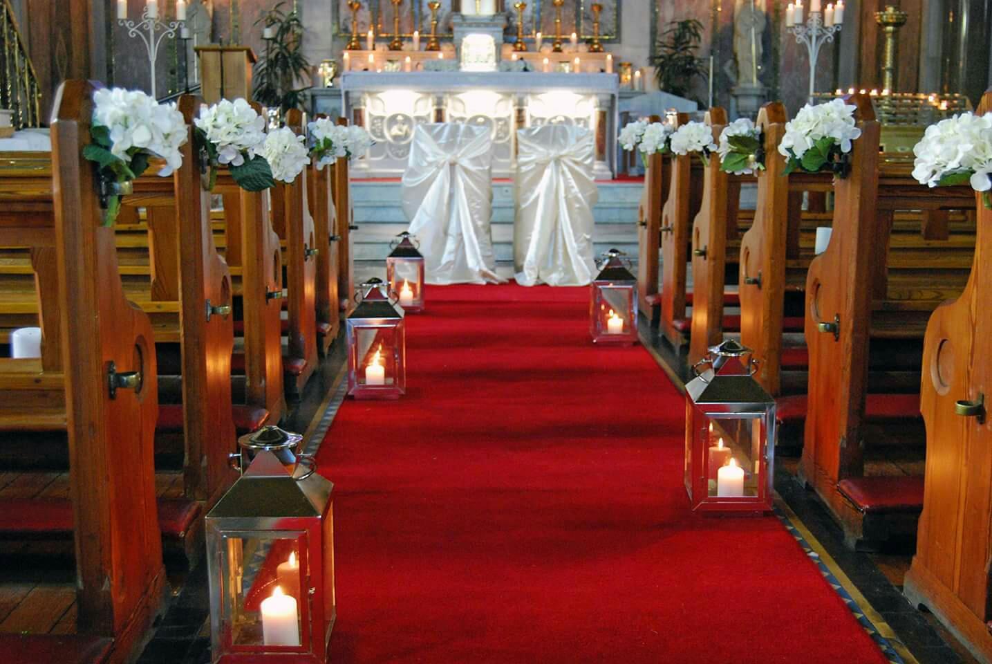 Wedding Decorations Ringsend Church Dublin