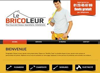 Bricoleur Template - Un template de site à créer soi-même pour les entreprises de construction ou les services de bricolage. Profitez des vastes zones de texte pour ajouter des témoignages et des descriptions détaillées de vos services. Personnalisez le design et la couleur. Bâtissez un site web professionnel gratuitement !